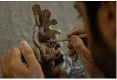 Clase del Diplomado de Escultura y Modelado en Cerámica.